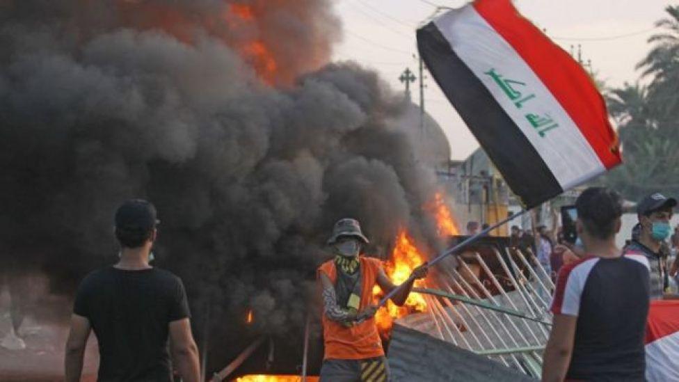 متظاهرين عراقيين