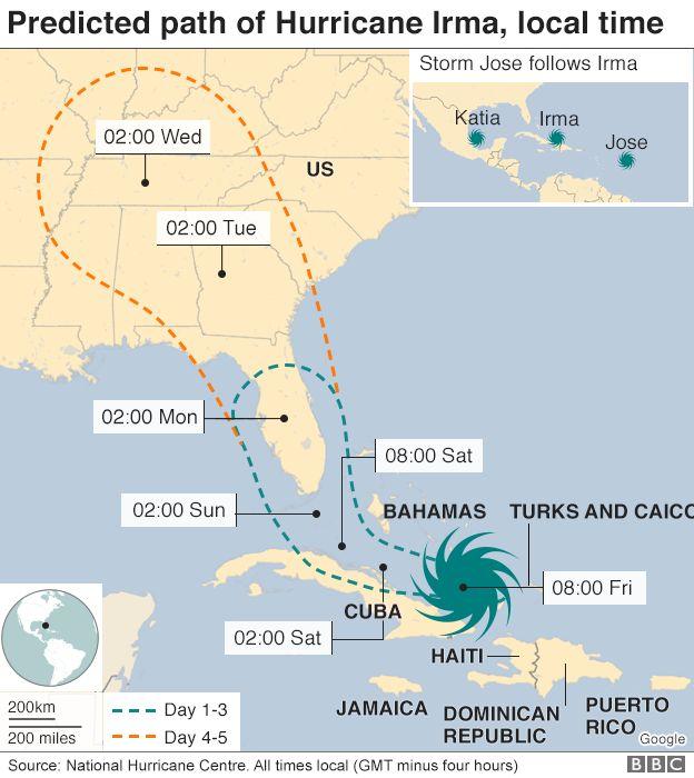 hurricane irma which areas