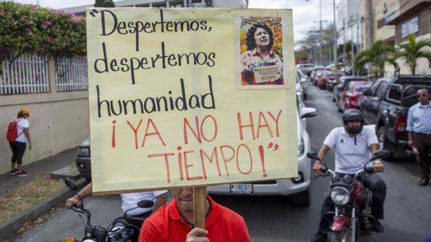 Marcha por la memoria de Berta Cáceres
