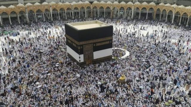 Muslim pilgrims circle around the Kaaba at the Masjidil Haram, Islam's holiest site, ahead of Hajj (09 September 2016)