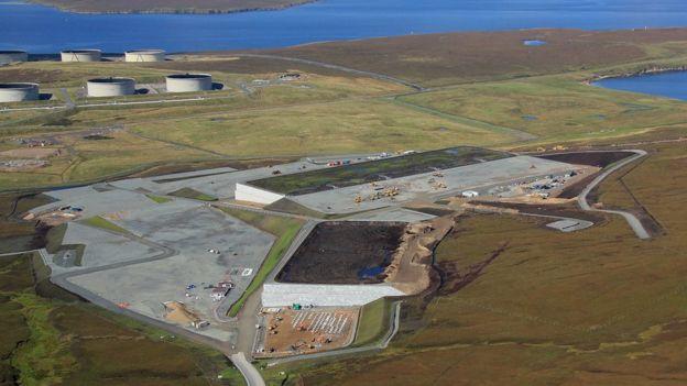 Gas plant construction site