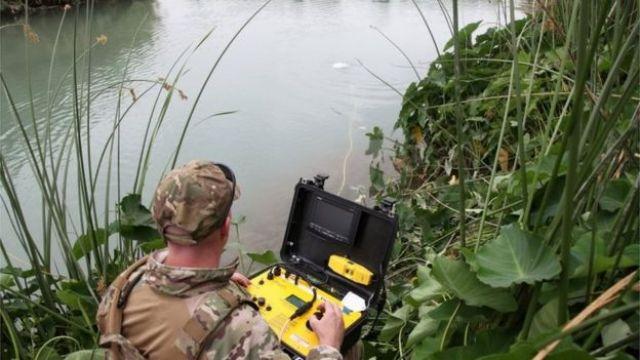 Agente de fronteira busca vítima no Rio Grande