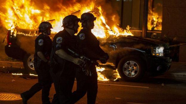 Policía en Washington DC esta semana.