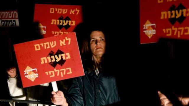Manifestante em março de 2019