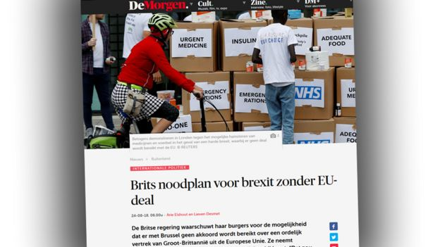 Screengrab from Belgian newspaper website De Morgen