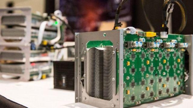 Una computadora de bitcoins