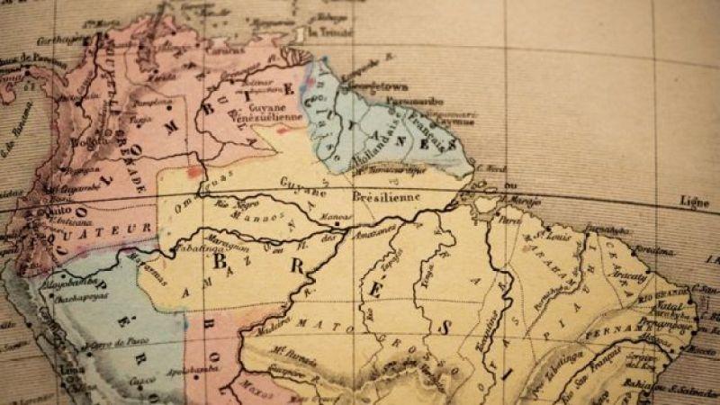 Mapa antigo mostra parte superior da América do Sul