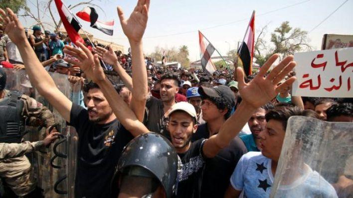 جانب من مظاهرات البصرة الأسبوع الجاري