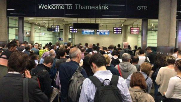 Thameslink delays.