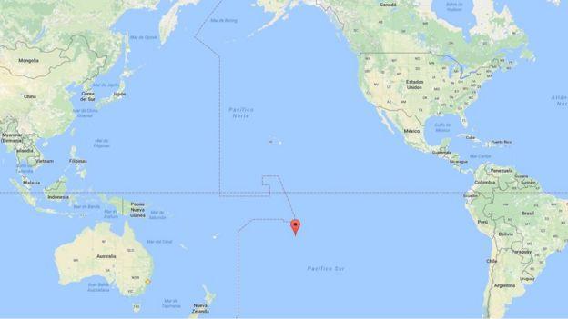 Polinesia Francesa ubicada en el mapa