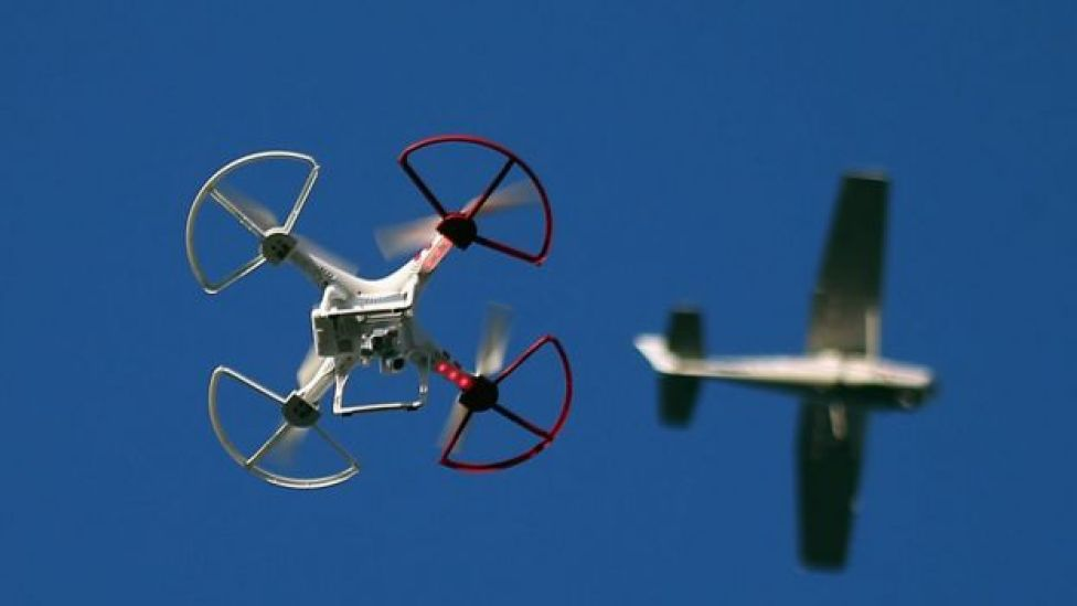 Drone and aircraft