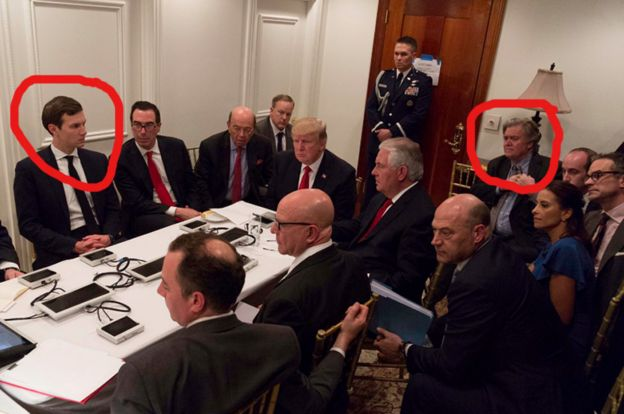Decoding the Trump war room photograph  SEPRIN