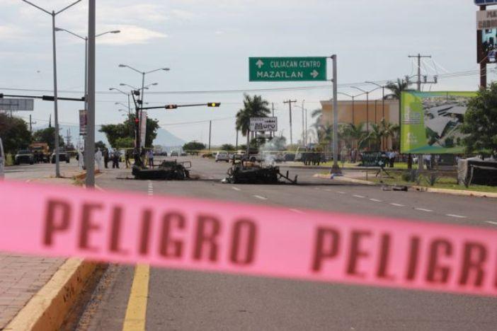Emboscada a convoy militar en Culiacán