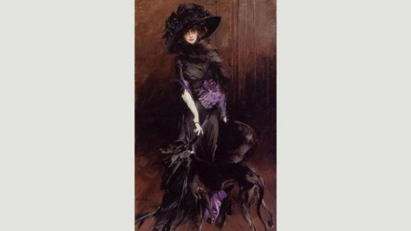 Retrato de Luisa Casati por Giovanni Boldini