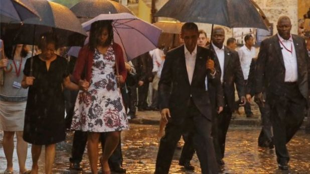 The Obamas in Old Havana, 20 March 2016