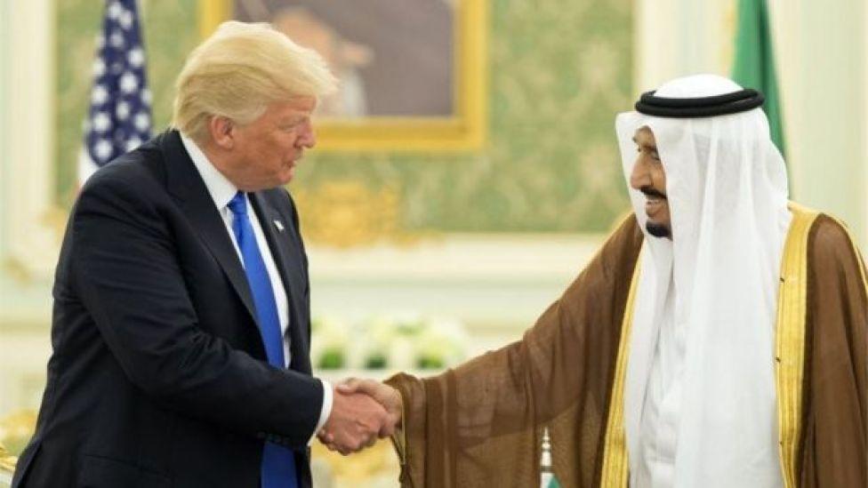 Donald Trump (izquierda) y el rey saudita Salman bin Adulaziz al-Saud (20/05/17)