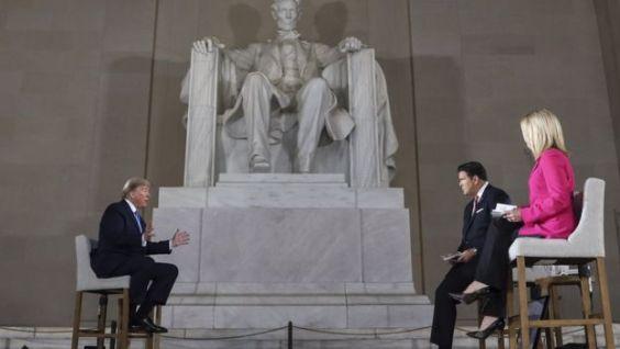 Donald Trump en entrevista con Fox News.