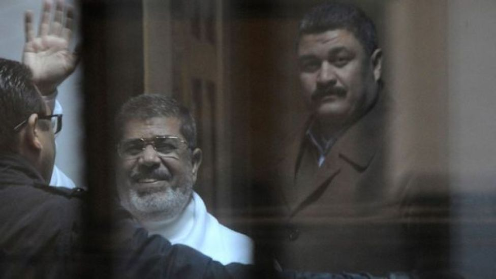 محمد مرسي في السجن