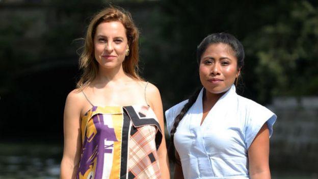 Marina de Tavira and Yalitza Aparicio