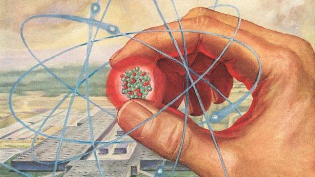 Ilustração de um átomo