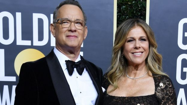 Tom Hanks y Rita Wilson.