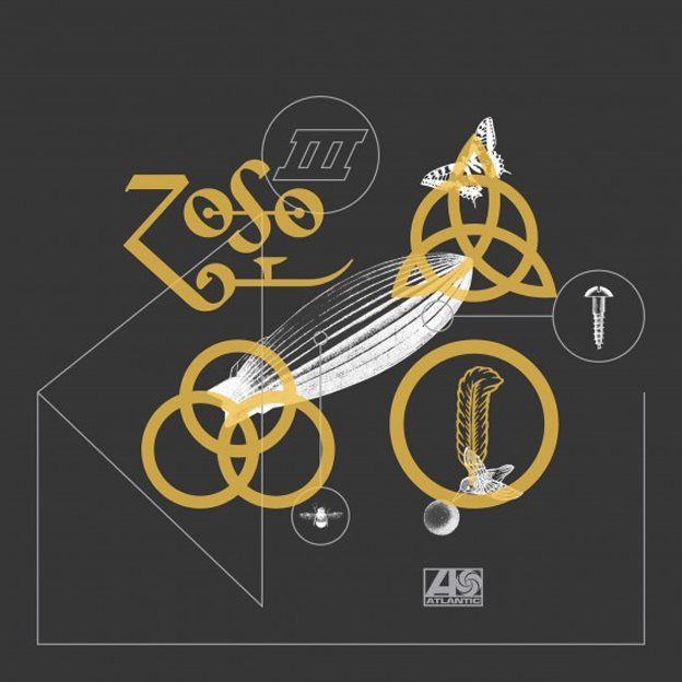 Artwork for Led Zeppelin's Rock and Roll Record Store Day release 2018