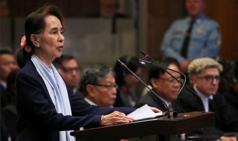 Myanmar's leader Aung San Suu Kyi