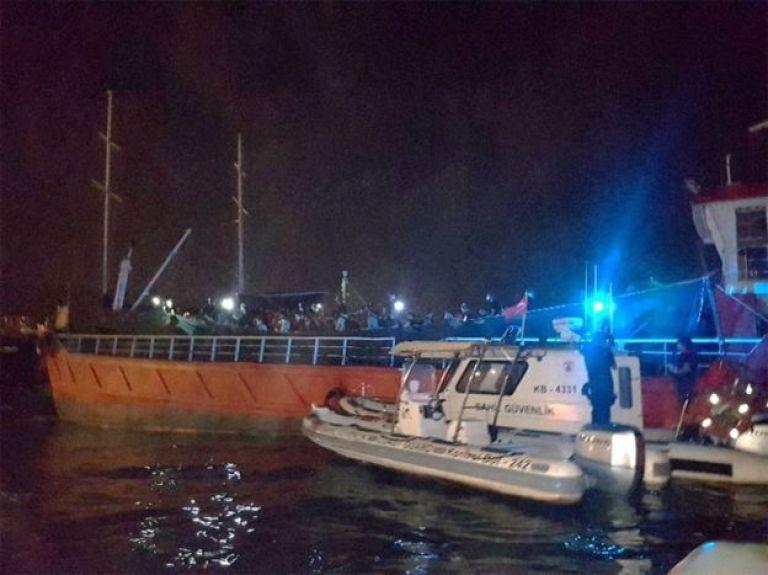 گادر ساحلی ترکیه میگوید مدتها این کشتی را زیر نظر داشته است