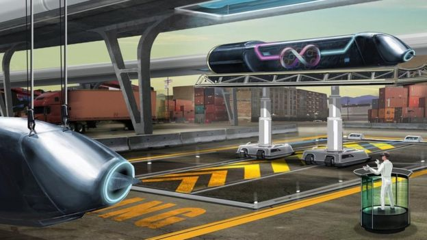 A concept drawing of hyperloop