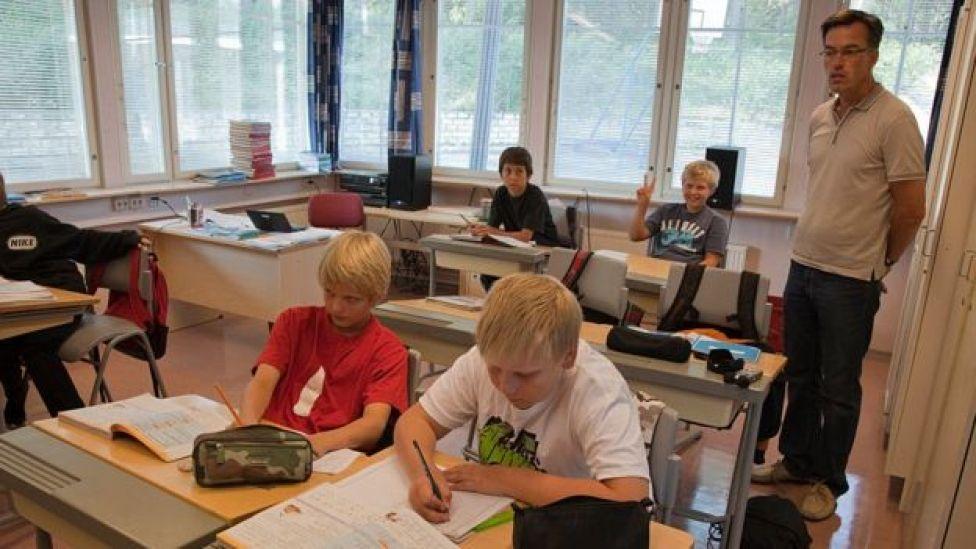 Clase en Finlandia
