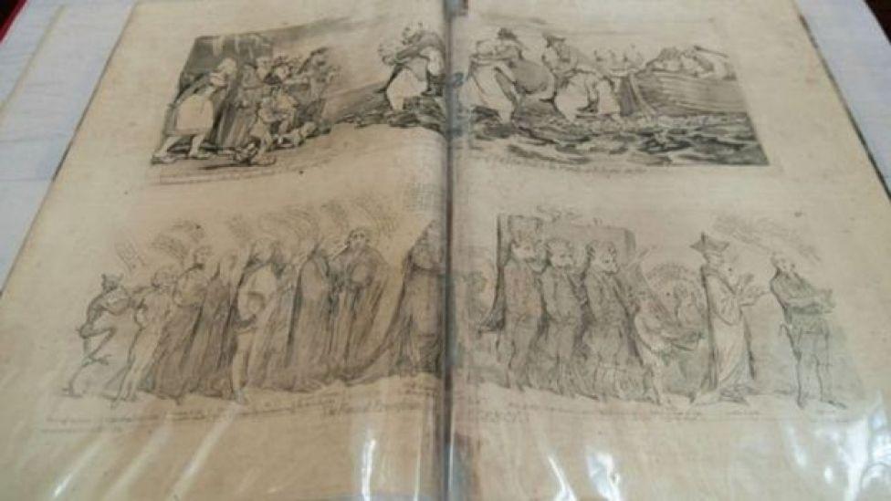 এসব কার্টুন প্রকাশিত হয়েছিলো ১৭৯৮ সাল থেকে ১৮১০ সালের মধ্যে