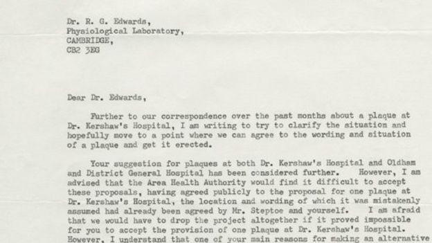 Carta enviada pelas autoridades de saúde de Oldham para Edwards