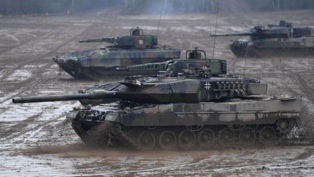 Foto de um tanque da Bundeswehr