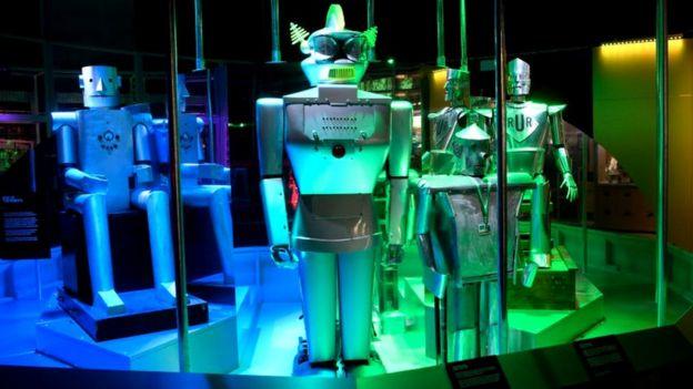 Exhibición de robots