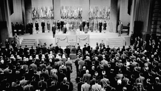 Primera reunião da ONU em San Francisco (EUA) em 1945.