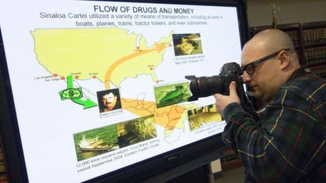 Esquema de las operaciones de narcotráfico de 'El Chapo'