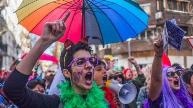 Marcha das mulheres em março
