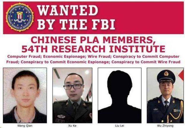 美国司法部起诉4名中国军方黑客窃取机密(组图)