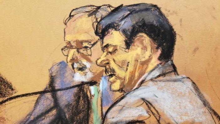 El Chapo Guzmán en la corte de Nueva York.