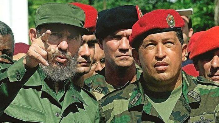 Fidel Castro y Hugo Chávez.
