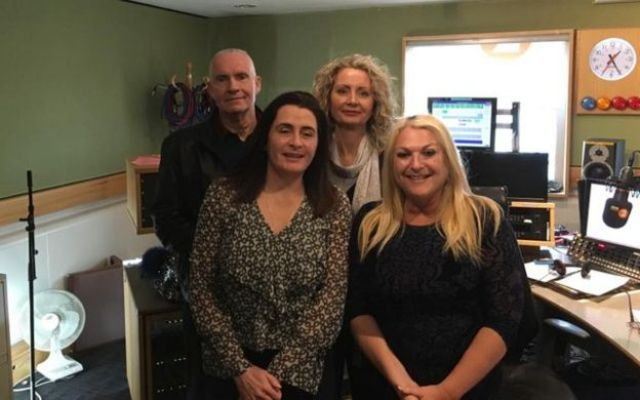 Robin and Lorraine with Cat Whiteaway (left) and Vanessa Feltz after the Jeremy Vine Show