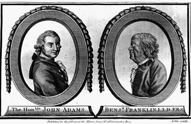 John Adams and Benjamin Franklin