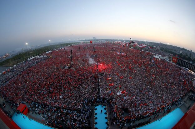 Istanbul anti-coup rally