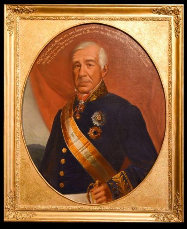 Retrato do Conde Joaquim Ferreira dos Santos, português que transportou mais de 10 mil escravos para o Brasil