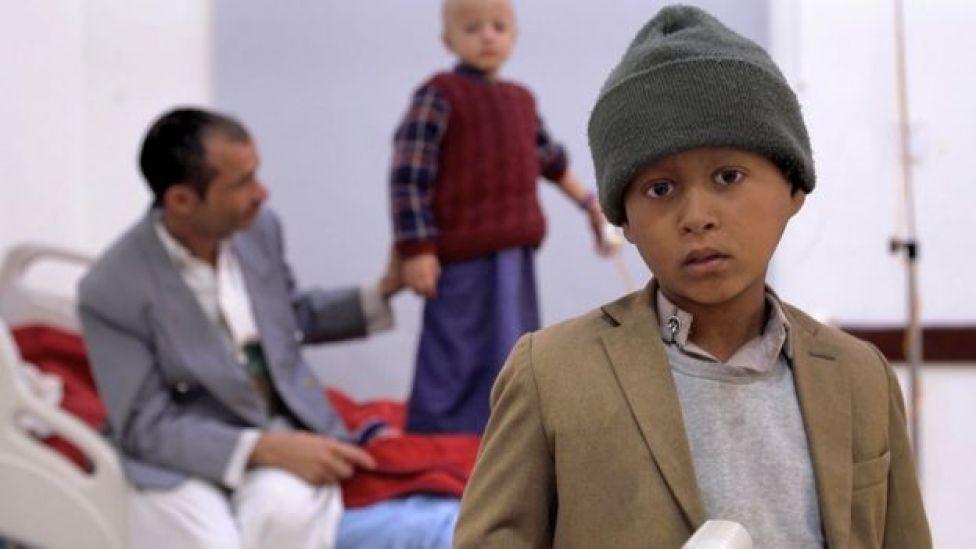 Yemen child in cancer hospital