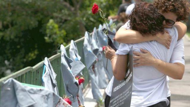 Homenagem a policiais mortos no Rio de Janeiro