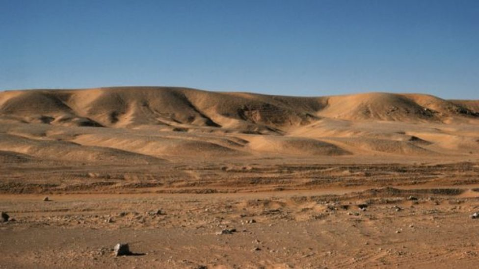 El desierto de Sahara en Ouargla, Argelia.