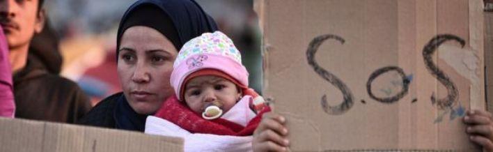 Migrant at Greek border