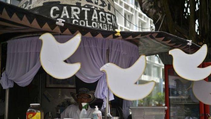 Un bar de Cartagène à la veille de la signature des accords de paix en 2016 entre le gouvernement et les Farc.
