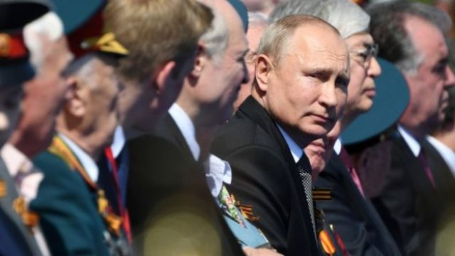 President Putin during the World War Two victory parade